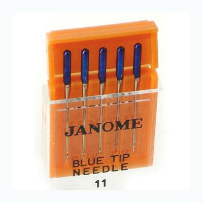 иглы с голубым наконечником для тонких тканей №11/75, 5шт.