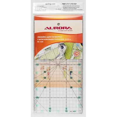 Линейка для пэчворка Aurora 15*30 см с антискользящим покрытием